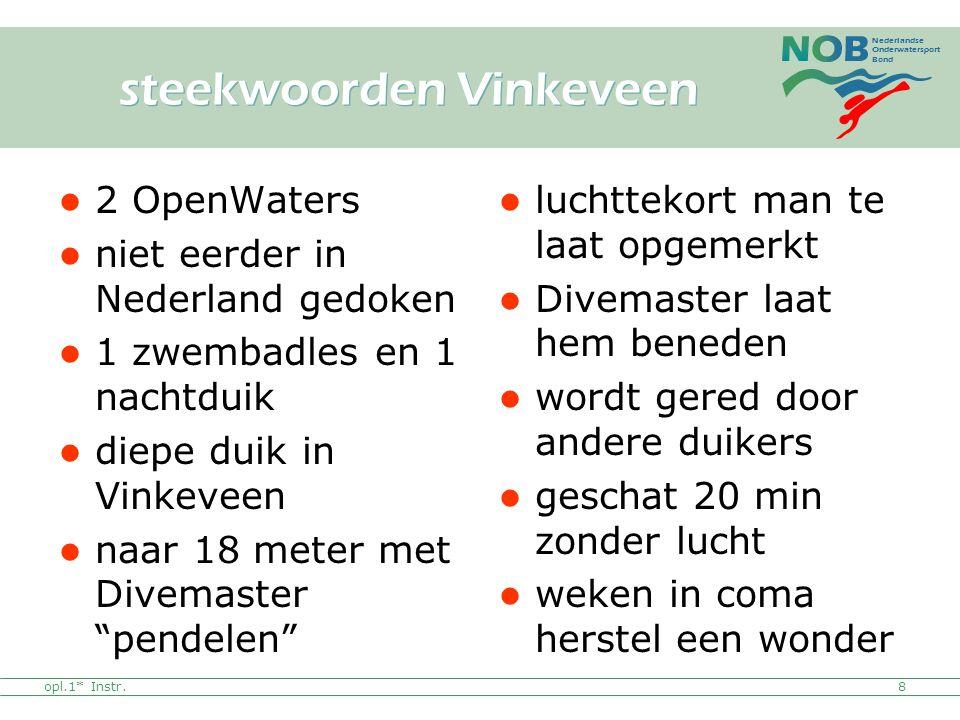 Nederlandse Onderwatersport Bond 2 OpenWaters niet eerder in Nederland gedoken 1 zwembadles en 1 nachtduik diepe duik in Vinkeveen naar 18 meter met D