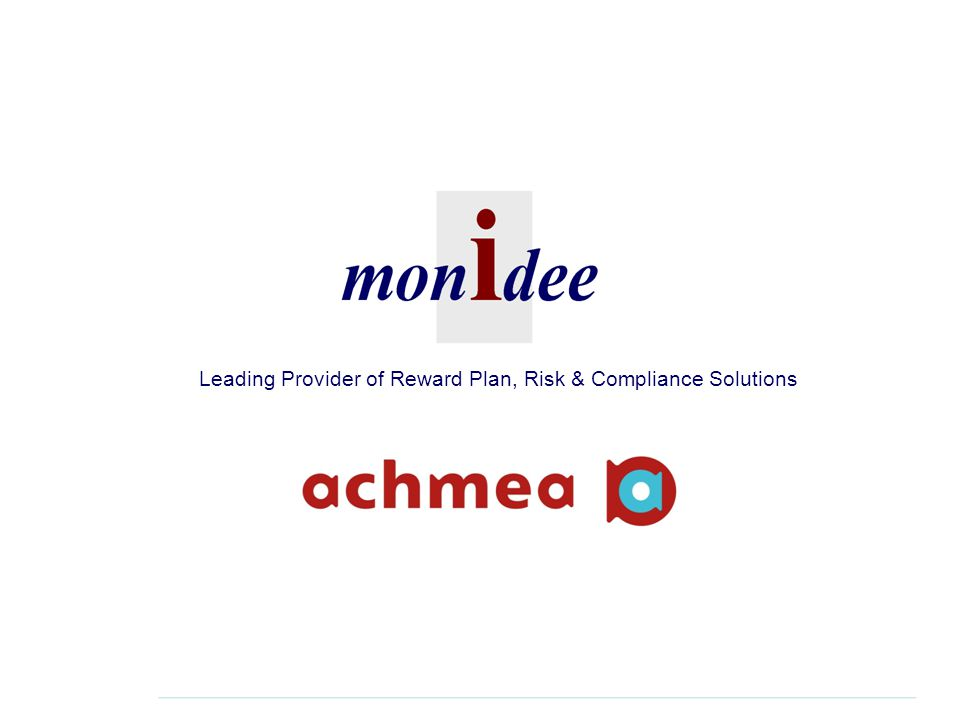 2 Introduction  Monidee is a specialist provider of innovative and flexible Reward Plan, Compliance and Risk Solutions.