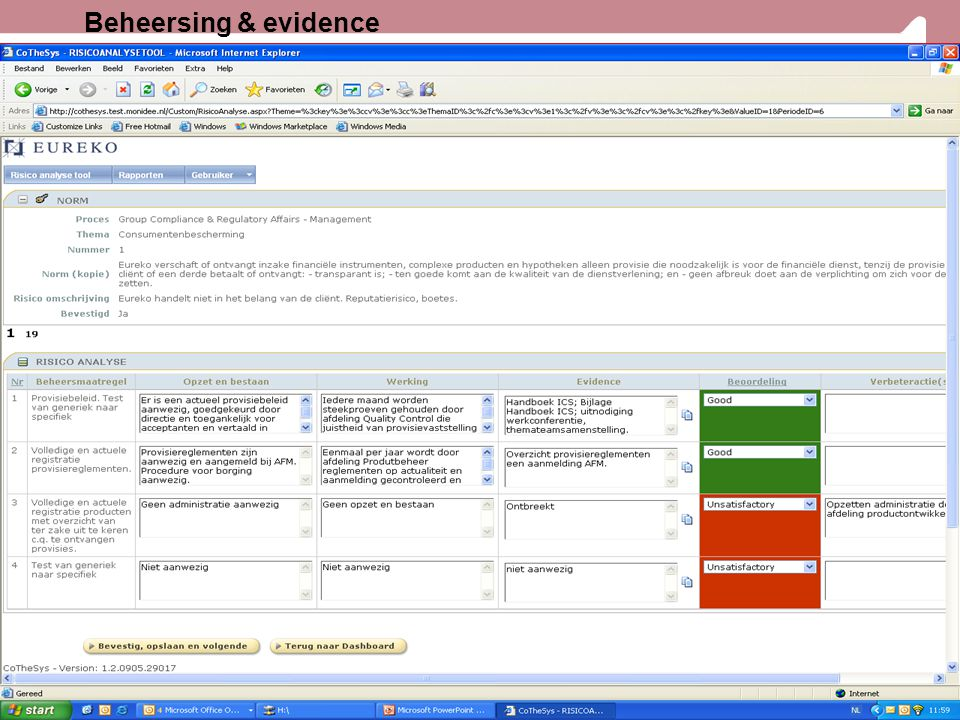 25 Beheersing & evidence