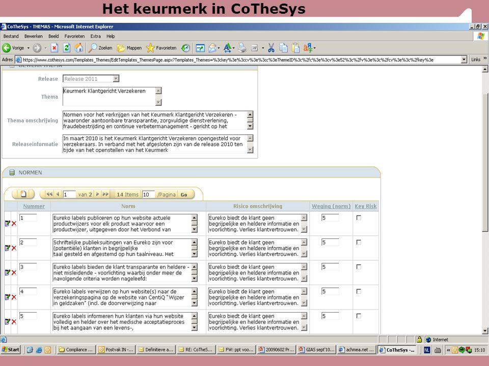 Het keurmerk in CoTheSys