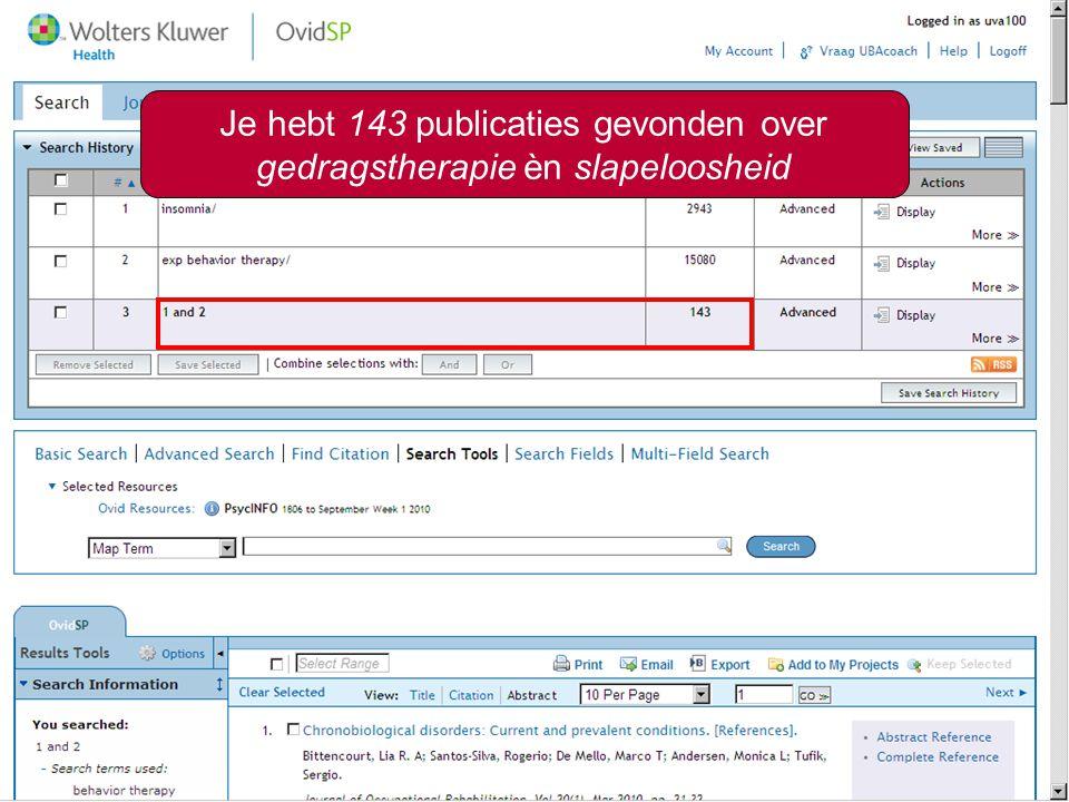 Zoeken op onderwerp11 Je hebt 143 publicaties gevonden over gedragstherapie èn slapeloosheid