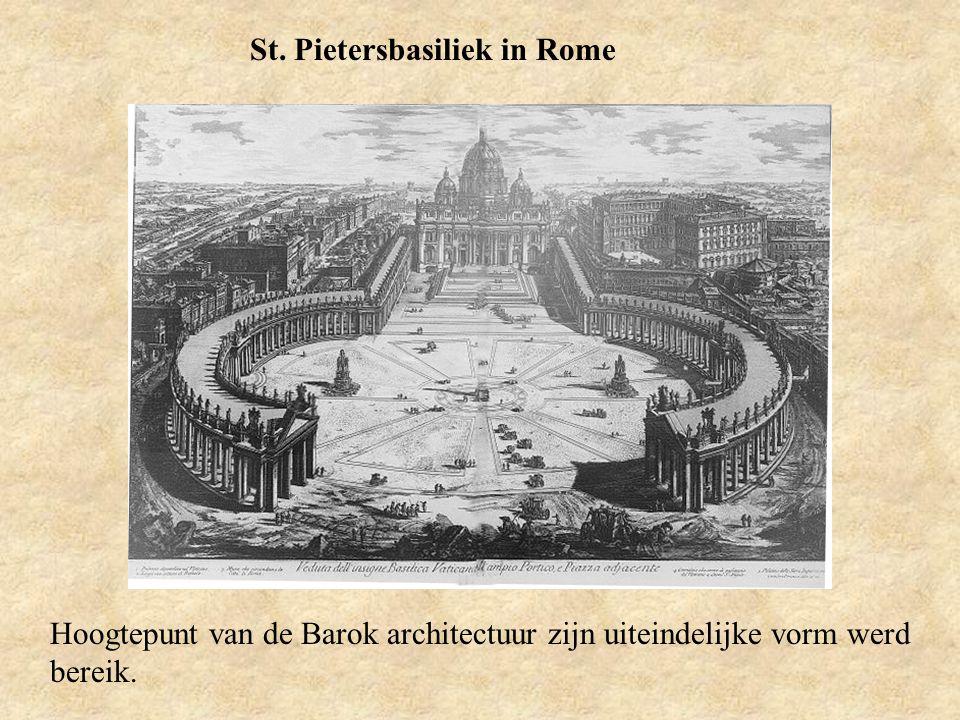 St. Pietersbasiliek in Rome Hoogtepunt van de Barok architectuur zijn uiteindelijke vorm werd bereik.
