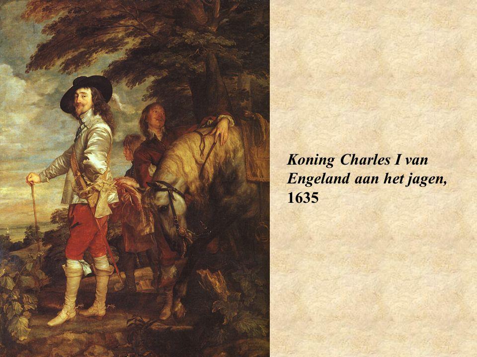 Koning Charles I van Engeland aan het jagen, 1635