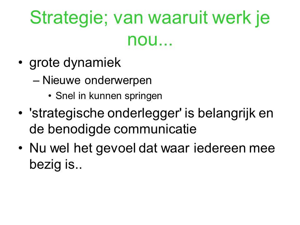 Strategie; van waaruit werk je nou...
