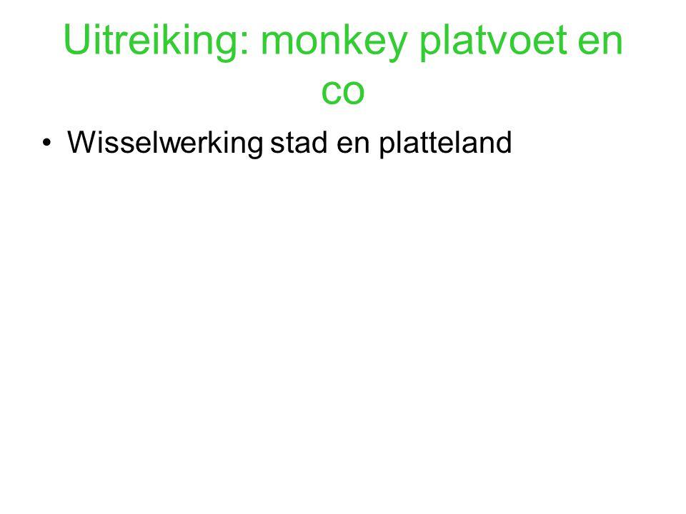 Uitreiking: monkey platvoet en co Wisselwerking stad en platteland