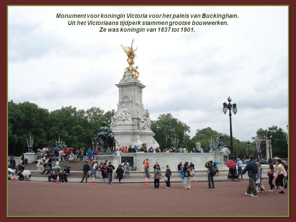 Monument voor koningin Victoria voor het paleis van Buckingham.
