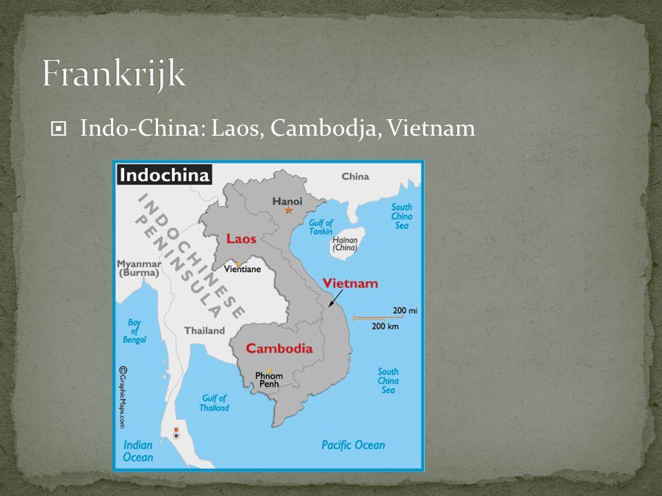  Indo-China: Laos, Cambodja, Vietnam
