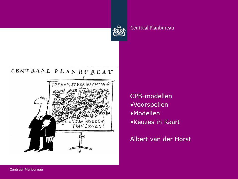 Centraal Planbureau Voorspellen 26 september 2014 2 CPB-modellen - NOSMO