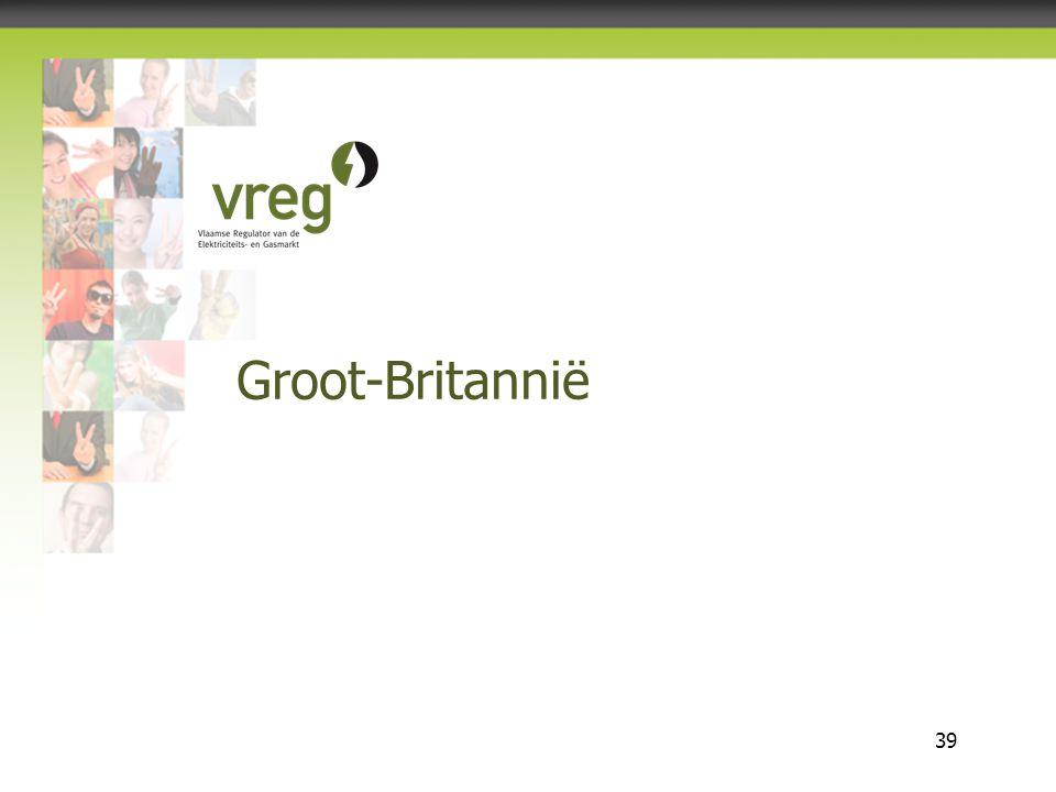 Vlaamse Regulator van de Elektriciteits- en Gasmarkt 39 Groot-Britannië