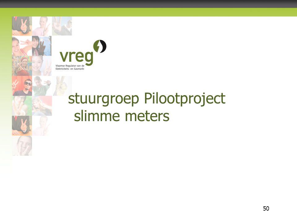 Vlaamse Regulator van de Elektriciteits- en Gasmarkt 50 stuurgroep Pilootproject slimme meters