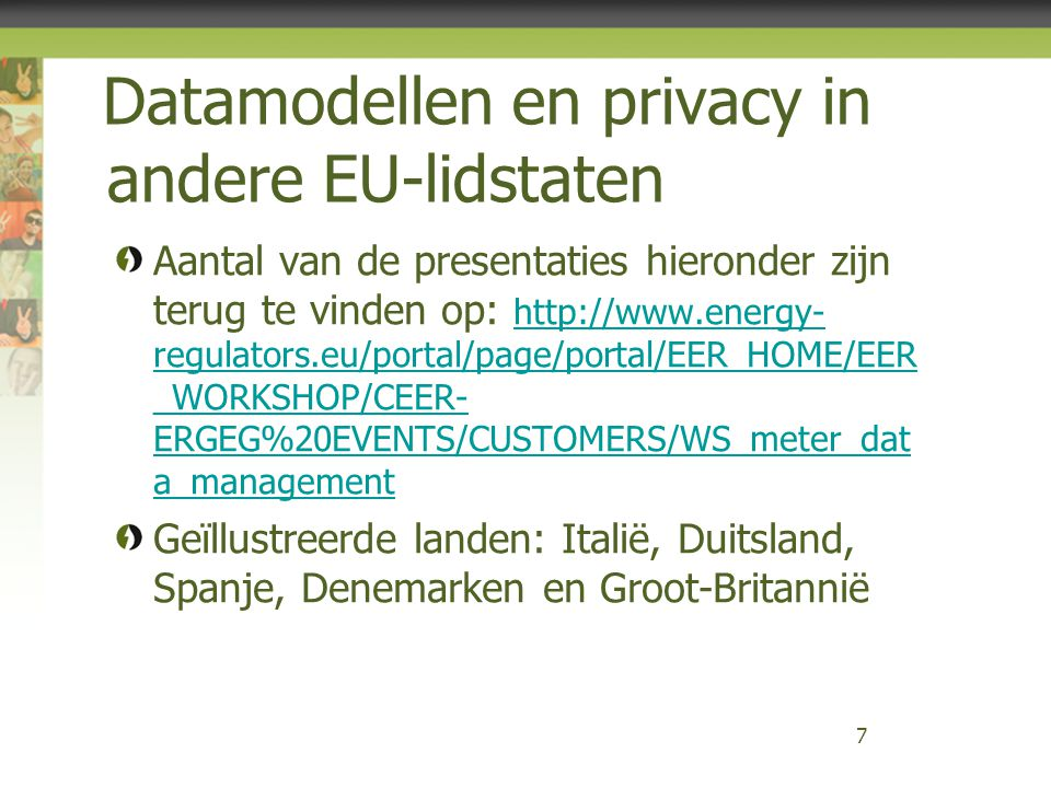 Energy Efficiency Directive Demand side management en aggregatie Specifieke vermelding: 'Demand response' is an important instrument to improve energy efficiency, since it significantly increases the opportunities for consumers or third parties nominated by them to take action on consumption and billing information and thus provides a mechanism to reduce or shift consumption resulting in energy savings in both final consumption and, through the more optimal use of networks and generation assets, in energy generation, transmission and distribution.