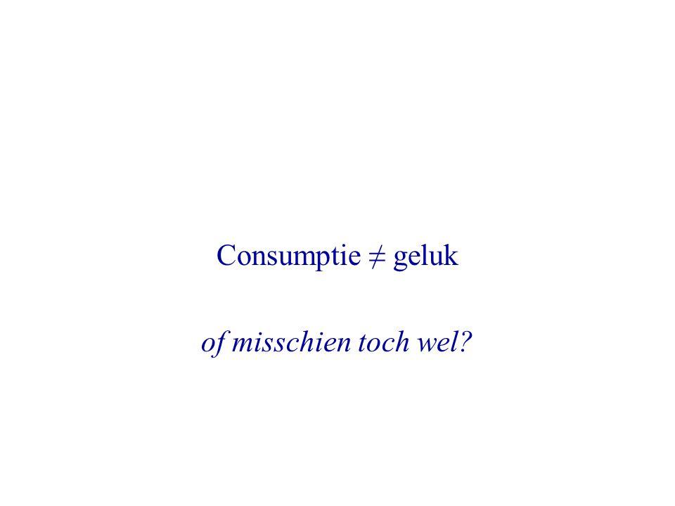 Consumptie ≠ geluk of misschien toch wel