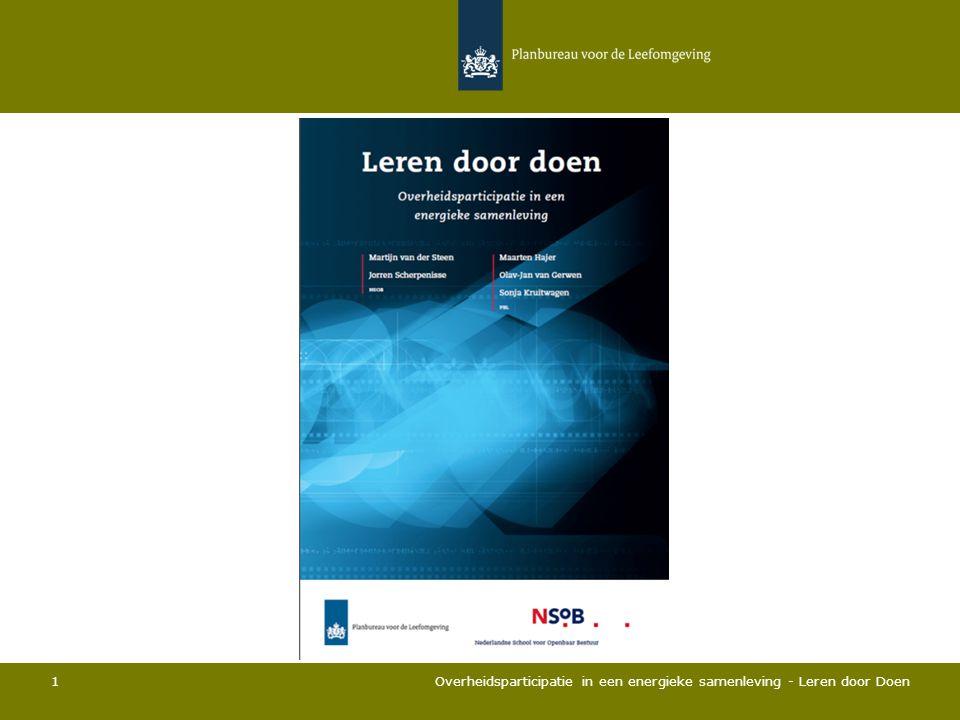 1 Overheidsparticipatie in een energieke samenleving - Leren door Doen