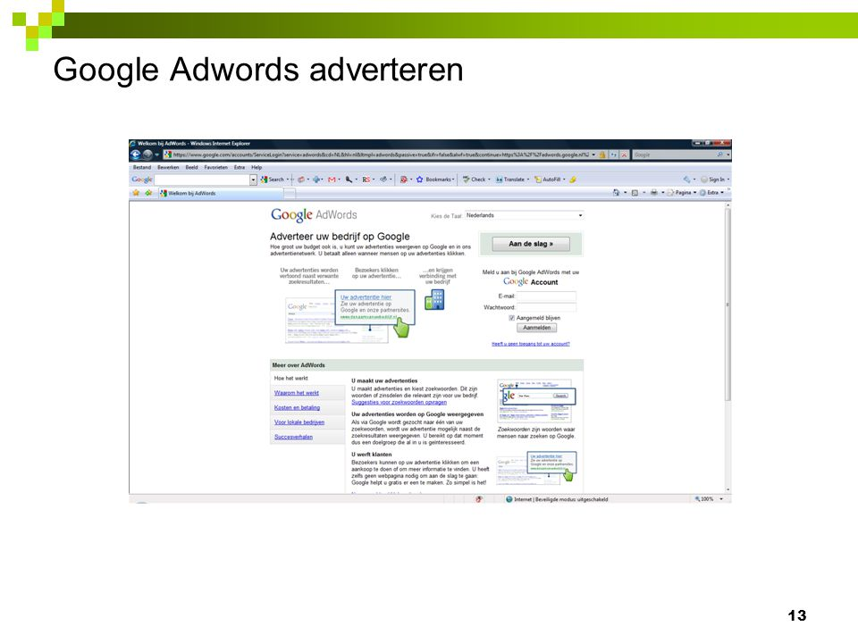 Google Adwords adverteren 13