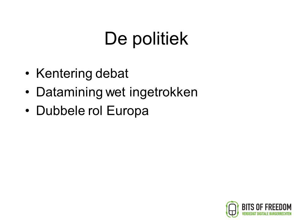 De politiek Kentering debat Datamining wet ingetrokken Dubbele rol Europa
