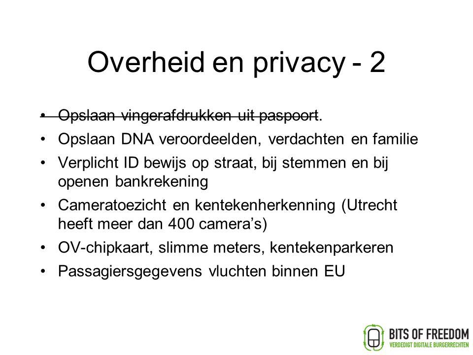 Overheid en privacy - 2 Opslaan vingerafdrukken uit paspoort.