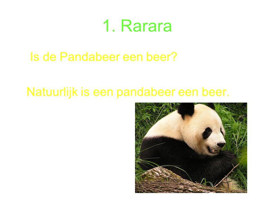 1. Rarara Is de Pandabeer een beer? Natuurlijk is een pandabeer een beer.
