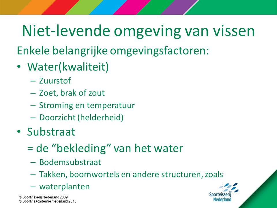 © Sportvisserij Nederland 2009 © Sportvisacademie Nederland 2010 Baars-blankvoorn viswatertype