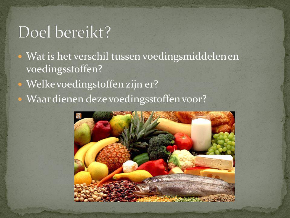 Wat is het verschil tussen voedingsmiddelen en voedingsstoffen.