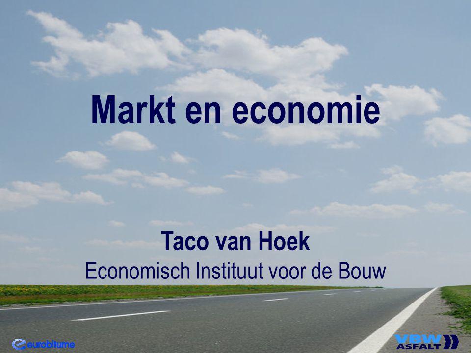 Markt en economie Taco van Hoek Economisch Instituut voor de Bouw