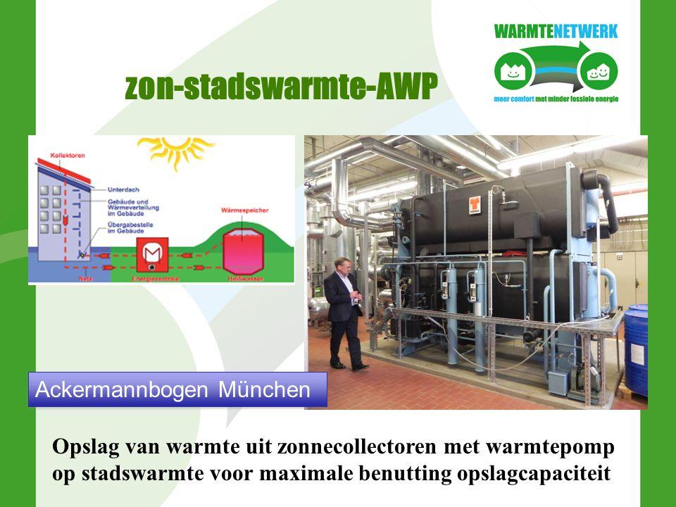 zon-stadswarmte-AWP Opslag van warmte uit zonnecollectoren met warmtepomp op stadswarmte voor maximale benutting opslagcapaciteit Ackermannbogen Münch