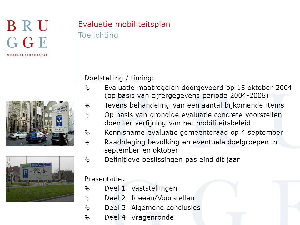 1.Inleiding 2. Mobiliteitsplan 2004 3. Mobiliteit in Brugge – evolutie en cijfers 4.