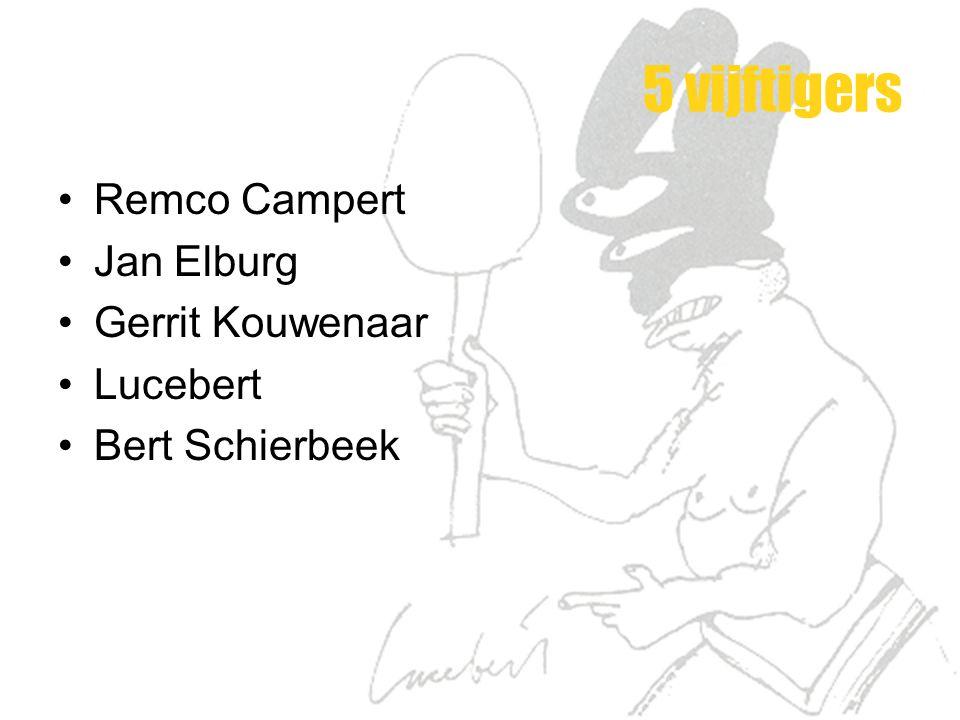 5 vijftigers Remco Campert Jan Elburg Gerrit Kouwenaar Lucebert Bert Schierbeek