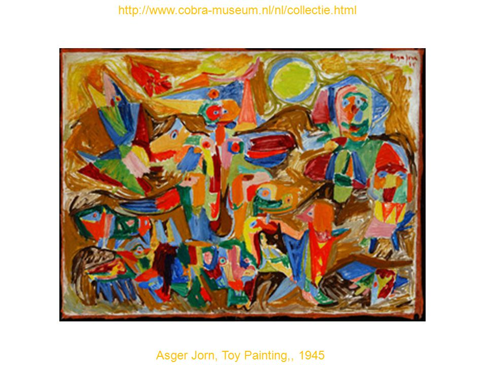 Asger Jorn, Toy Painting,, 1945 http://www.cobra-museum.nl/nl/collectie.html