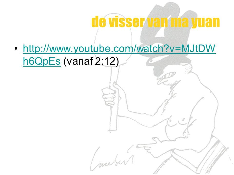 de visser van ma yuan http://www.youtube.com/watch?v=MJtDW h6QpEs (vanaf 2:12)http://www.youtube.com/watch?v=MJtDW h6QpEs