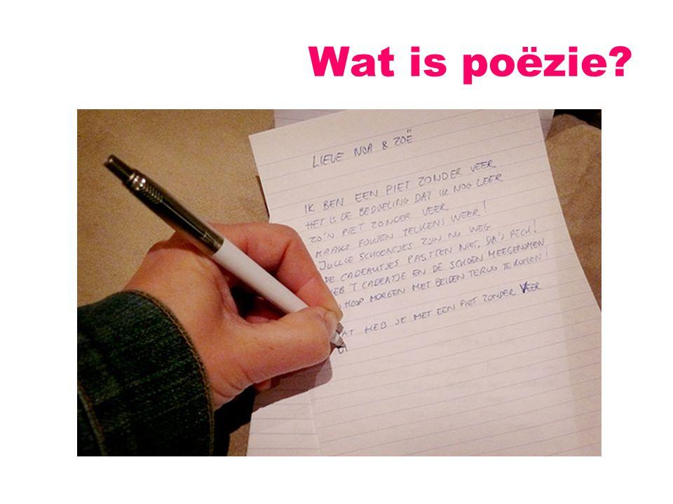 Wat is poëzie?