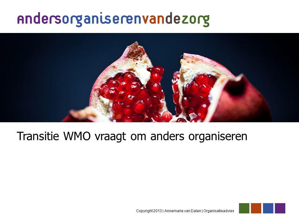 Copyright 2013 | Annemarie van Dalen | Organisatieadvies Transitie WMO vraagt om anders organiseren