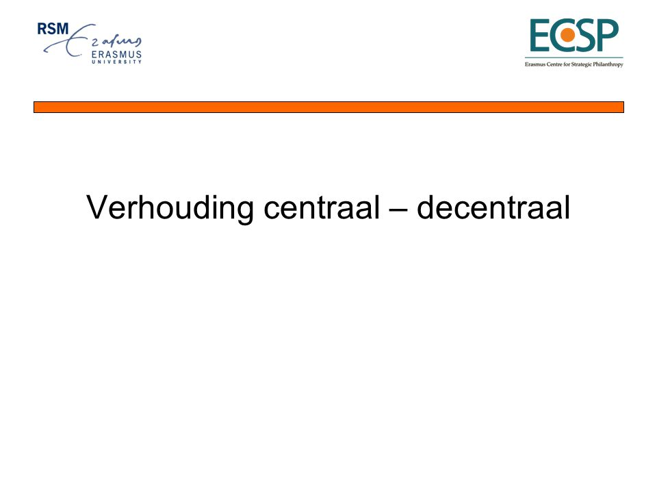 Verhouding centraal – decentraal
