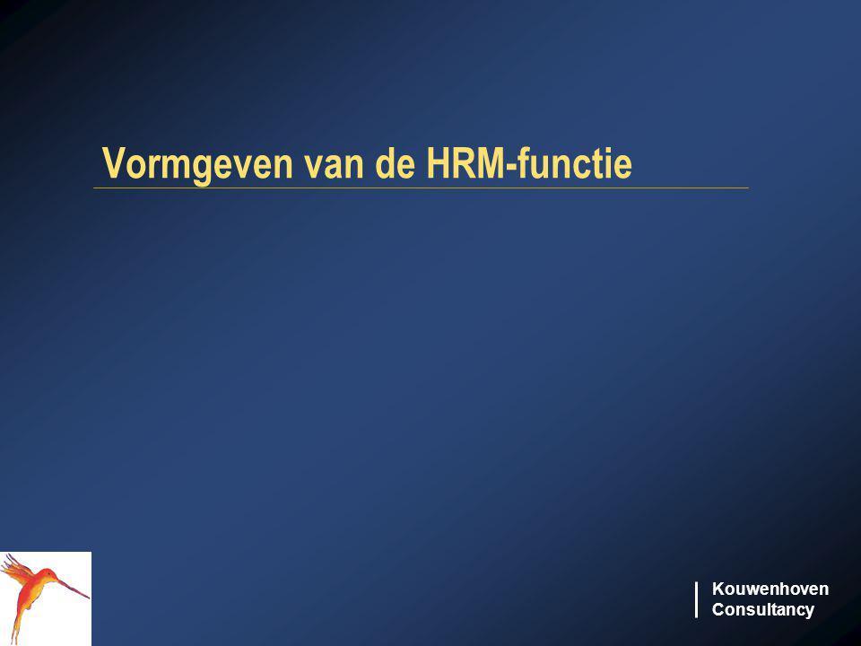 Kouwenhoven Consultancy Vormgeven van de HRM-functie