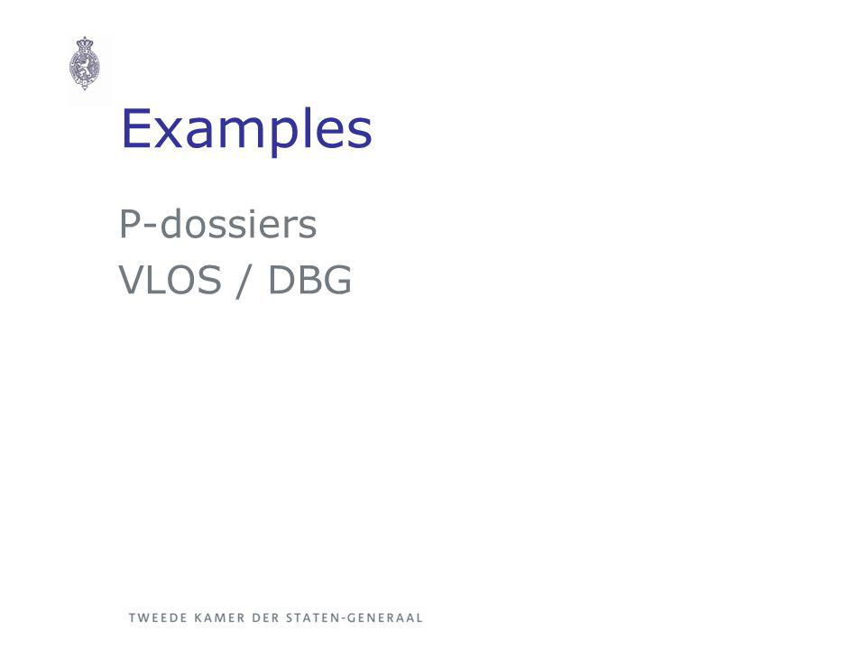 Examples P-dossiers VLOS / DBG