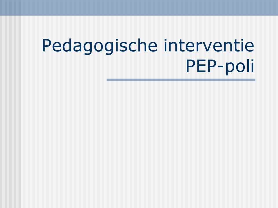 Pedagogische interventie PEP-poli