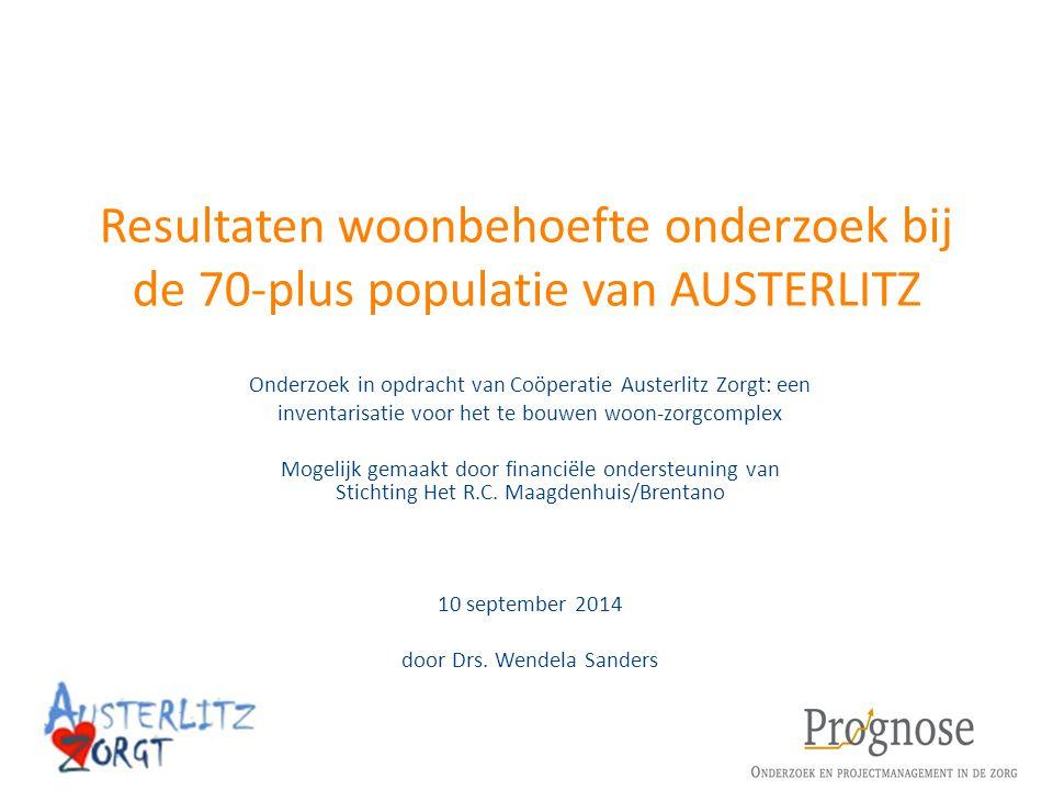 Resultaten woonbehoefte onderzoek bij de 70-plus populatie van AUSTERLITZ Onderzoek in opdracht van Coöperatie Austerlitz Zorgt: een inventarisatie vo