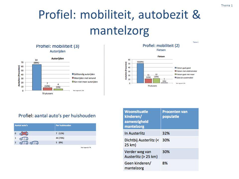 Profiel: mobiliteit, autobezit & mantelzorg Thema 1