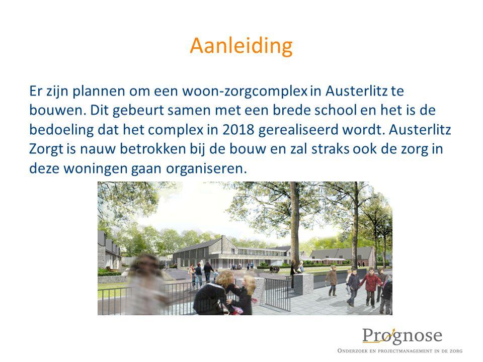 Aanleiding Er zijn plannen om een woon-zorgcomplex in Austerlitz te bouwen. Dit gebeurt samen met een brede school en het is de bedoeling dat het comp