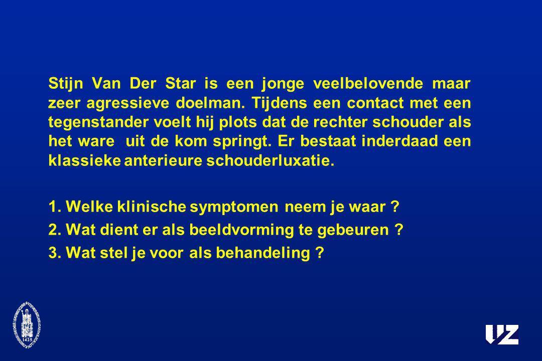 Stijn Van Der Star is een jonge veelbelovende maar zeer agressieve doelman. Tijdens een contact met een tegenstander voelt hij plots dat de rechter sc