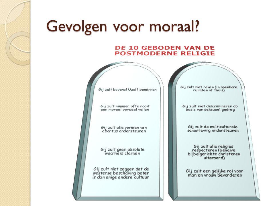 Gevolgen voor moraal?
