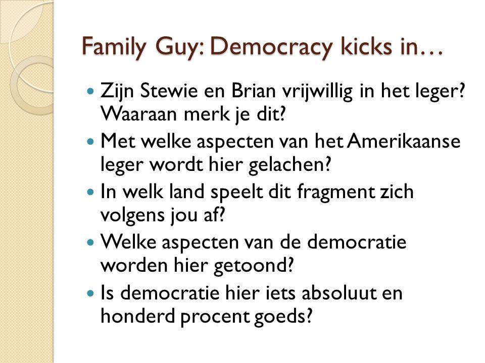 Family Guy: Democracy kicks in… Zijn Stewie en Brian vrijwillig in het leger.