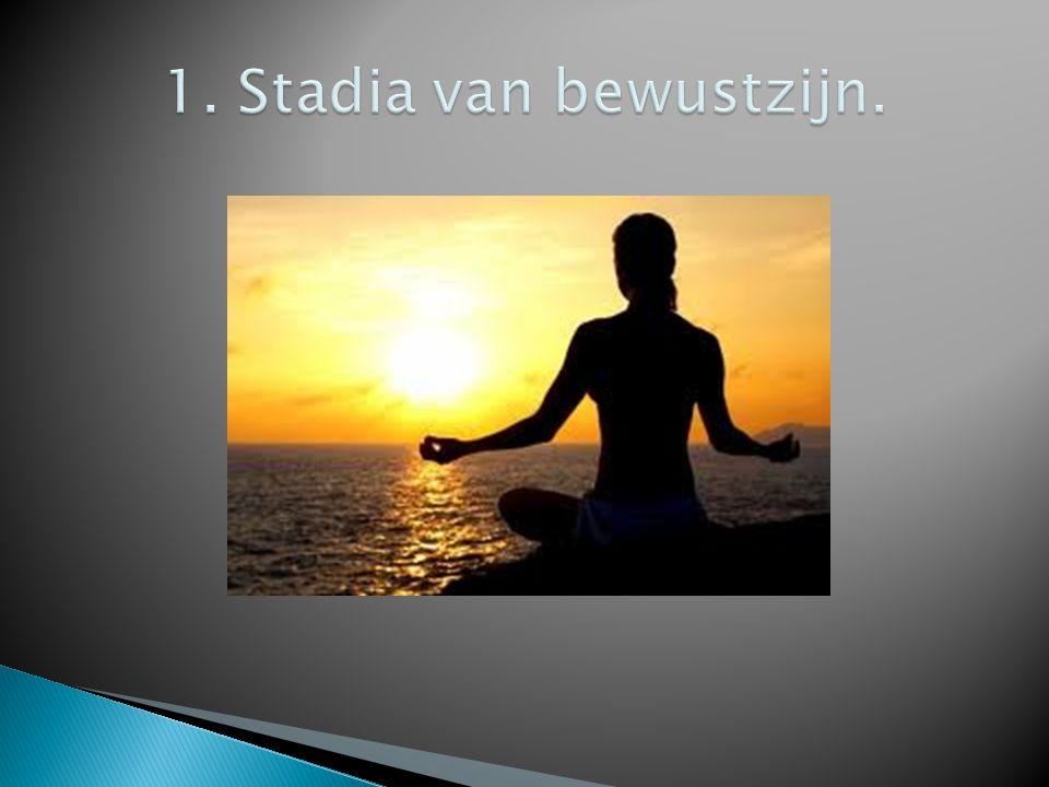 1.Bij kennis (= bewust). 2. Verminderd bewustzijn.