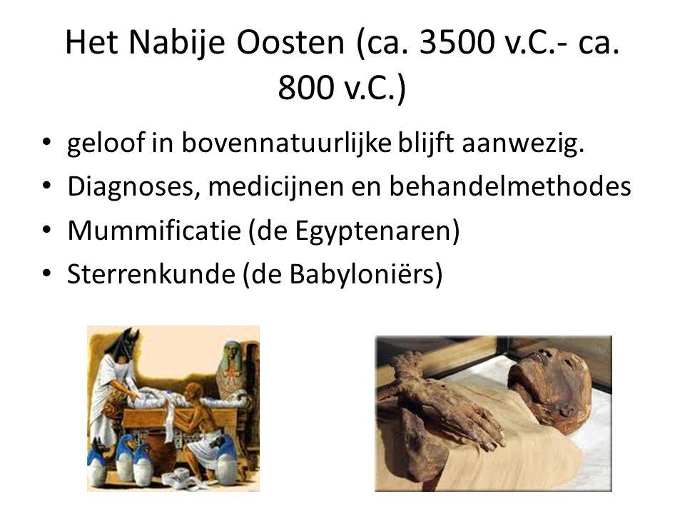 Het Nabije Oosten (ca.3500 v.C.- ca. 800 v.C.) geloof in bovennatuurlijke blijft aanwezig.