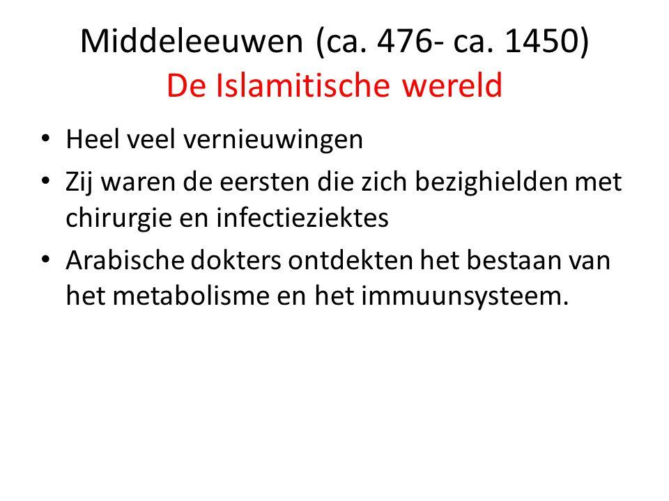 Middeleeuwen (ca.476- ca.