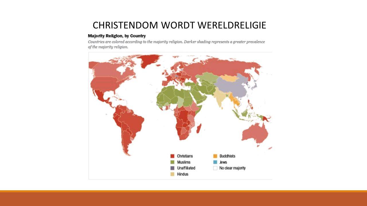 CHRISTENDOM WORDT WERELDRELIGIE