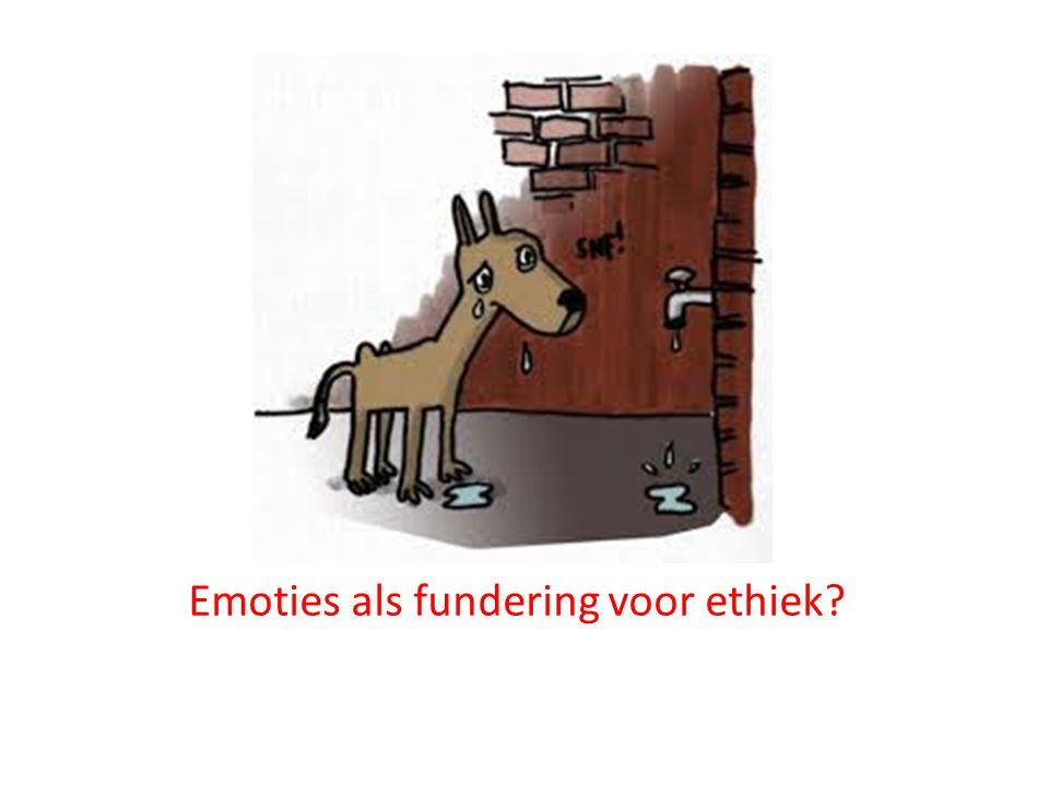 Emoties als fundering voor ethiek?