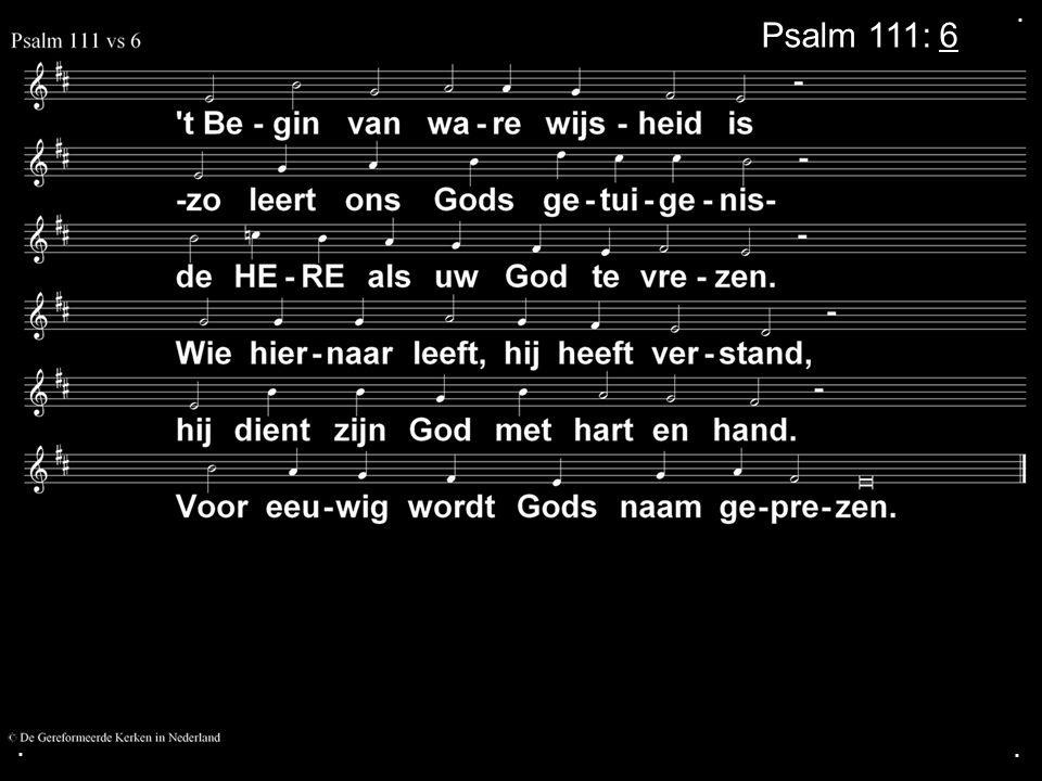 ... Psalm 111: 6