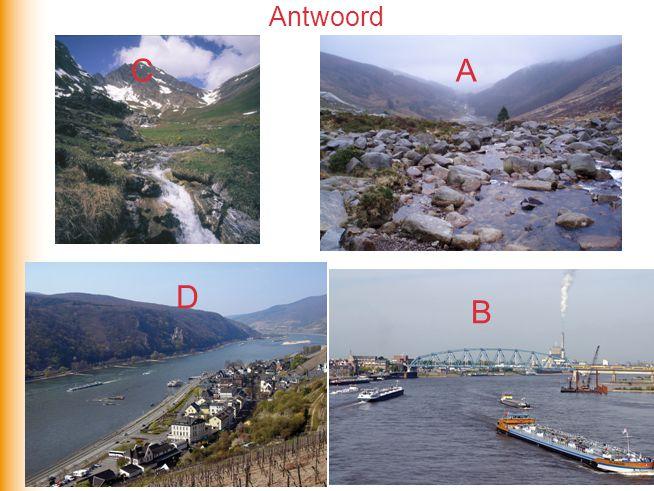 Typen rivieren A.Gletsjerrivier B.Gemengde rivier C.Regenrivier Regiem Welk regiem hoort bij welk type en waarom?