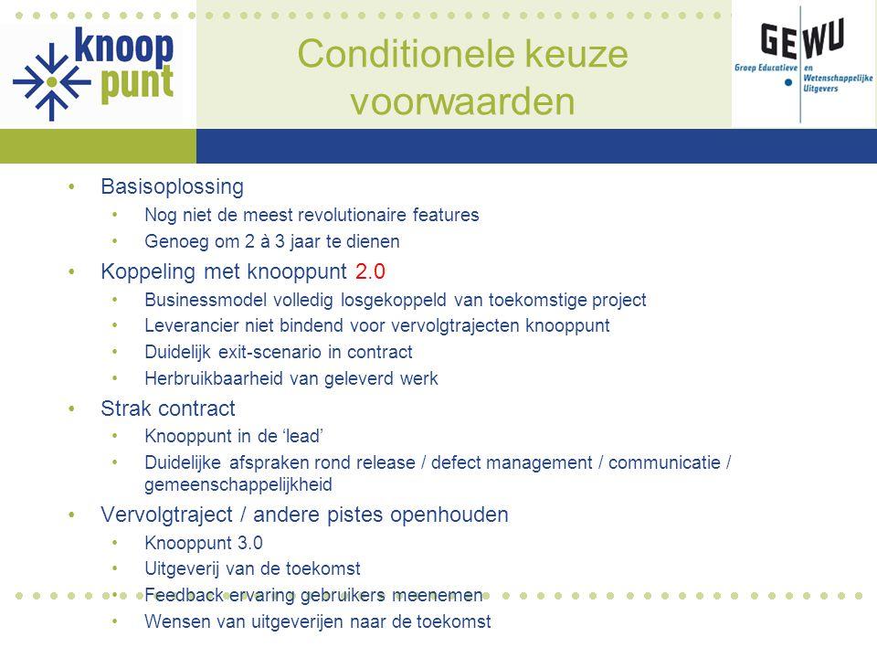 Feedback kandidaten financieel model Note: kostprijs migratie uitgeversafhankelijk (hoeveel materiaal te migreren)
