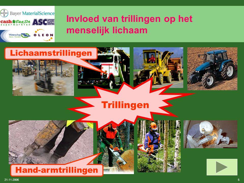 21-11-2006 15 Samenvatting van KB 'Mechanische trillingen'  voorlichting en opleiding van de werknemers (art.17)  raadpleging en participatie van de werknemers en/of hun vertegenwoordigers van CPBW (art.18)  gezondheidstoezicht (art.19 t.e.m.